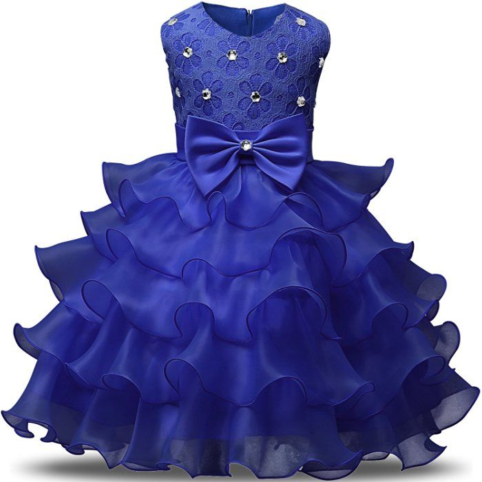 NNJXD Girl Dress Kids Ruffles Lace Party Wedding Dresses Size 0-6 ...