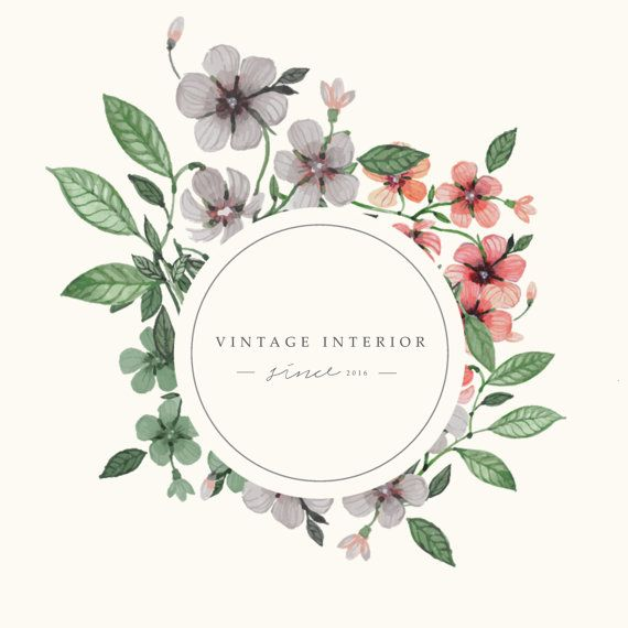 Premade Logo Feminine Design Florist By StylishCreativeShop