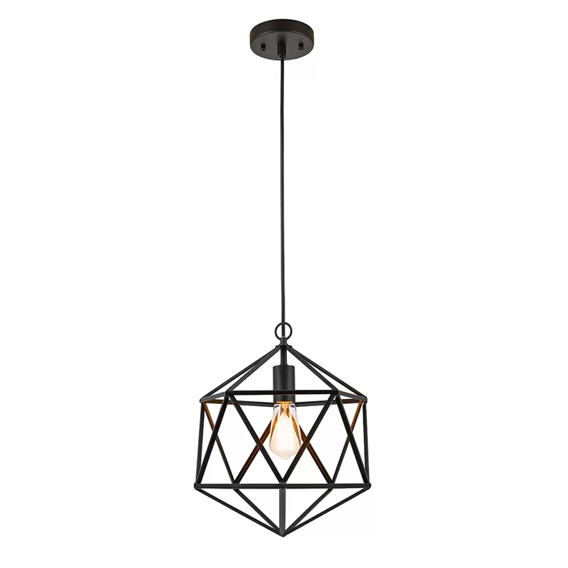 Abrielle 1 Light Single Geometric Pendant Geometric Pendant Light Pendant Light Cage Pendant Light