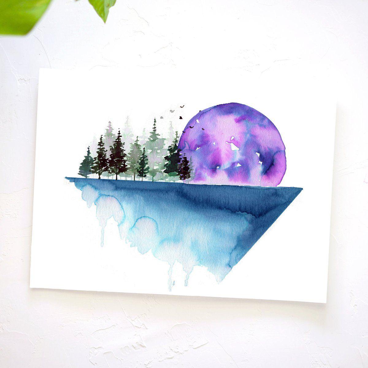 Geometric Landscape Watercolor Kit Let S Make Art Let S Make Art