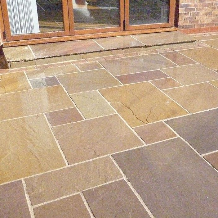 Indian Sandstone Paving Raj Green Indian Sandstone LSDcouk