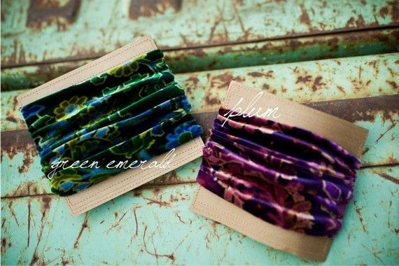 stretchy velvet headbands from Garlands of Grace xxx