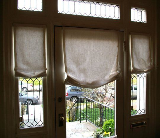 Curtains Drapes And Blinds For A Glass Front Door