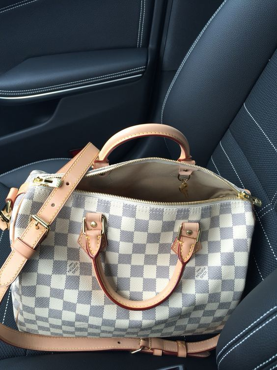 3f9d4facbabe Louis Vuitton Speedy B 30 Damier Azur❤ One of my next purchases on my Louis  list!