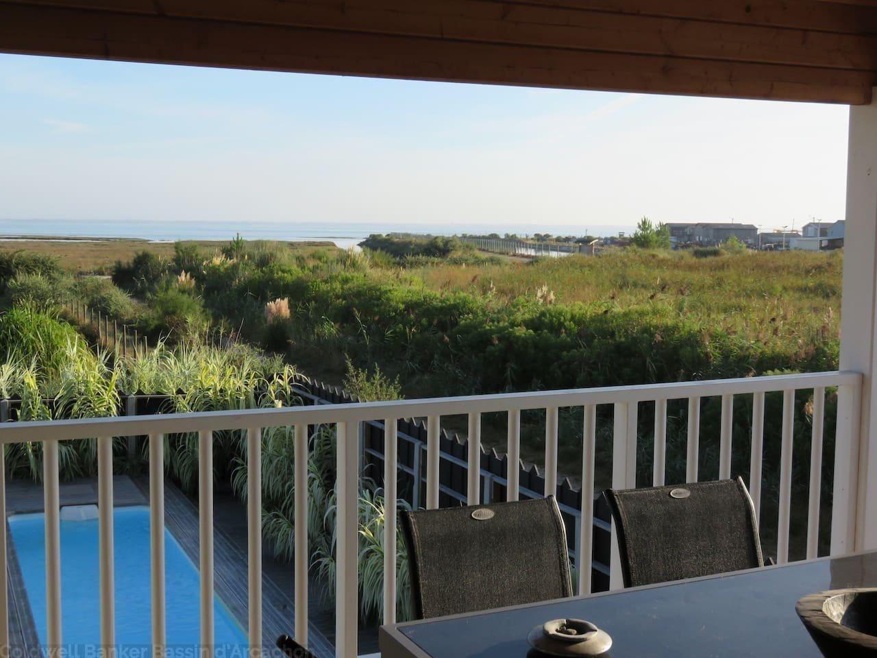 18a56a2164d281 Vente Maison   Villa Gujan Mestras La Hume belle villa en bois avec piscine  et vue