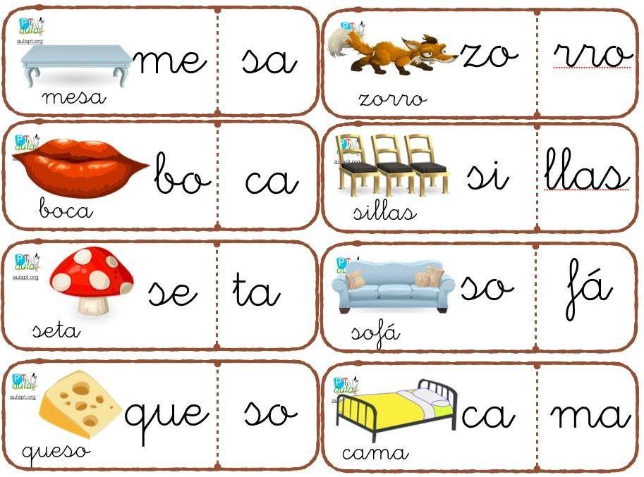 Conciencia Fonológica Reforzando La Segmentación Silábica Conciencia Fonológica Segmentacion Silabica Centros De Aprendizaje