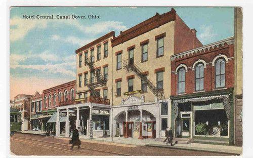 Hotel Central Street Scene C Dover Ohio 1929 Postcard Ebay