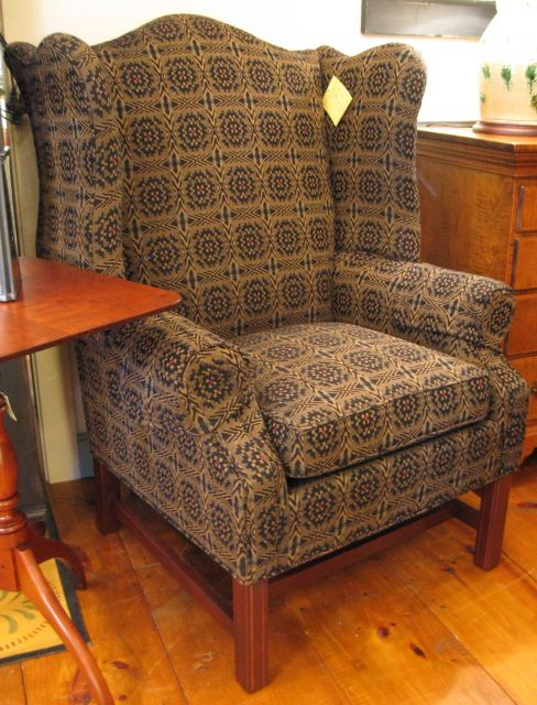 Wingback Chair Furniture Decor Chair And Ottoman Set Rustic Antique Decor