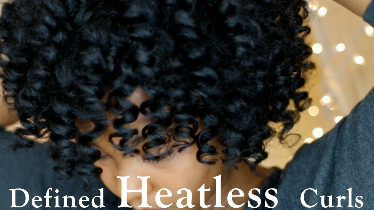 Defined Heatless Curls On Dry Natural Hair