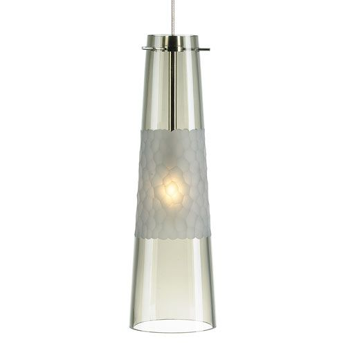 Lbl lighting bonn single light pendant with smoke shade