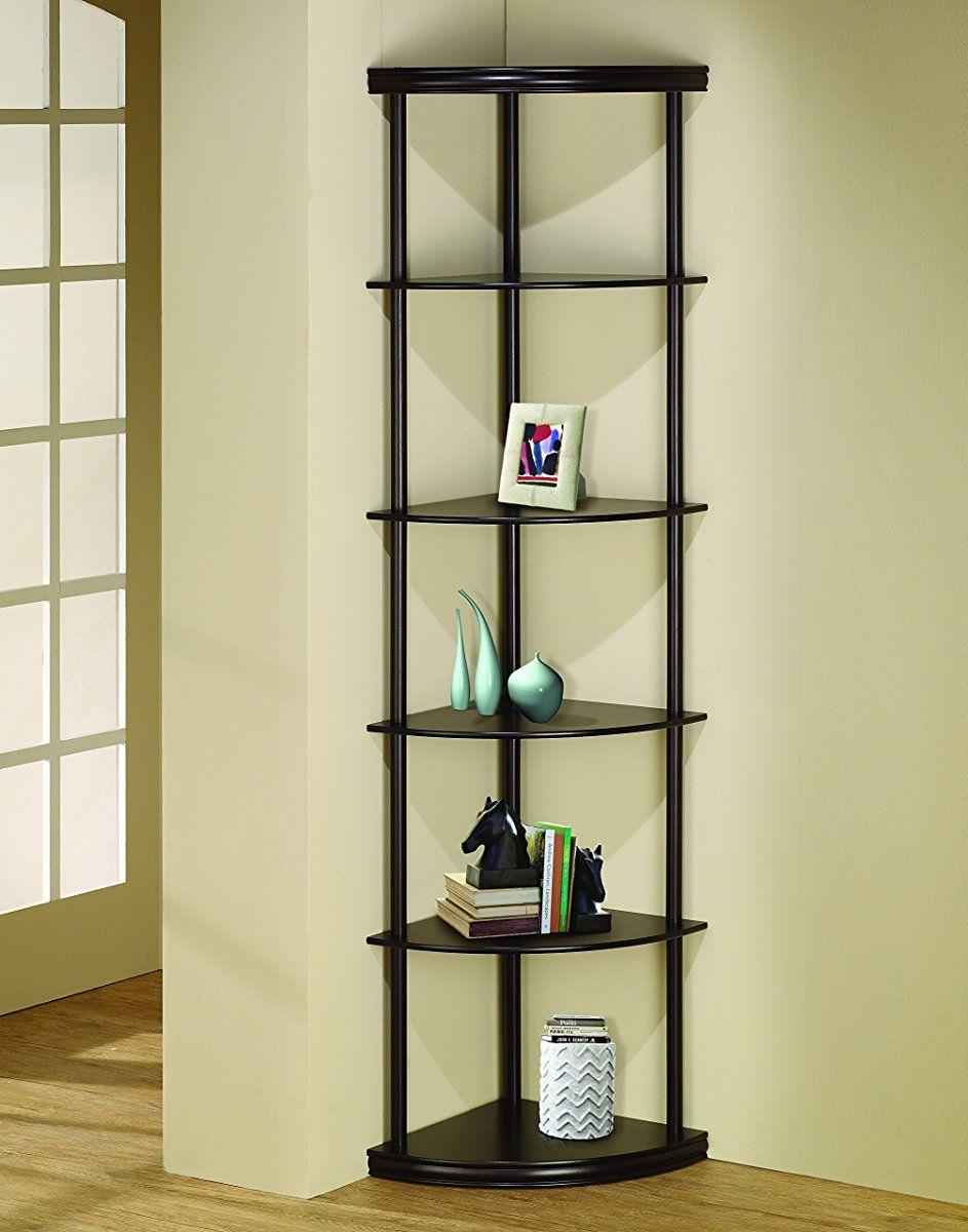 Good Coaster Home Furnishings 800279 Casual Bookcase, Cappuccino. Corner Shelf  ... Design Ideas