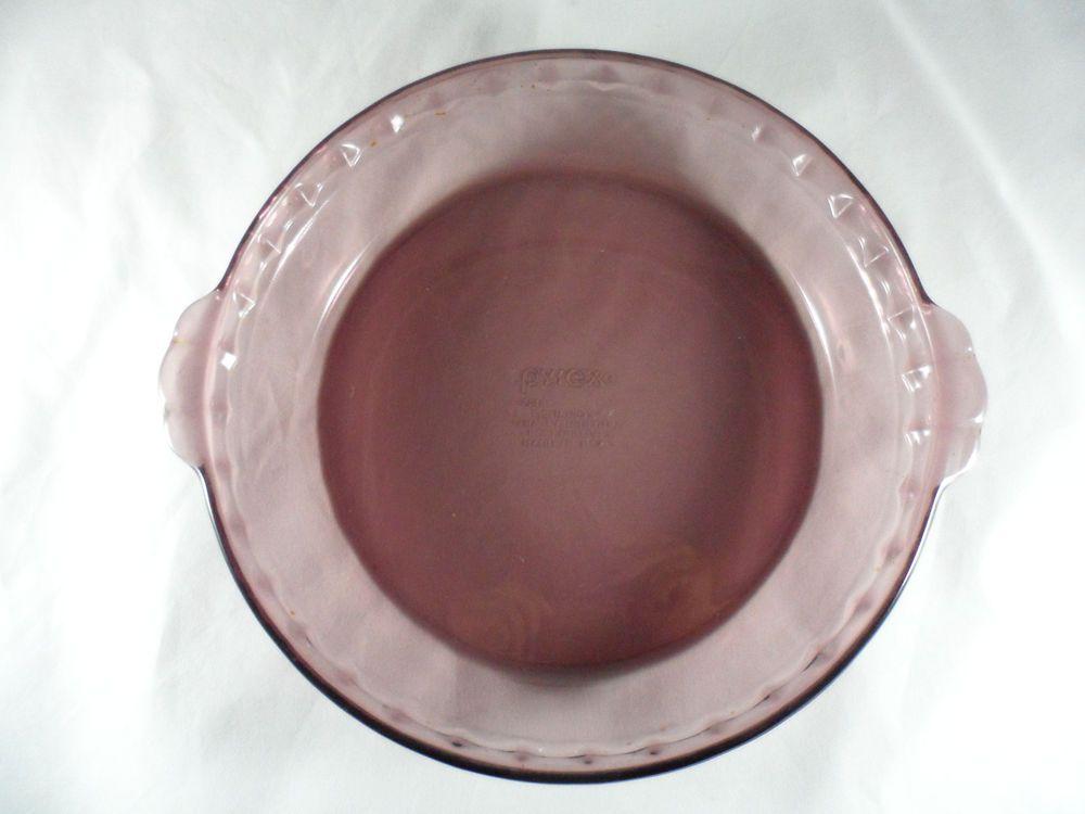 Pyrex Amethyst Purple Deep Dish Pie Plate 9.5  Scalloped Edge 220 EUC & Pyrex Amethyst Purple Deep Dish Pie Plate 9.5