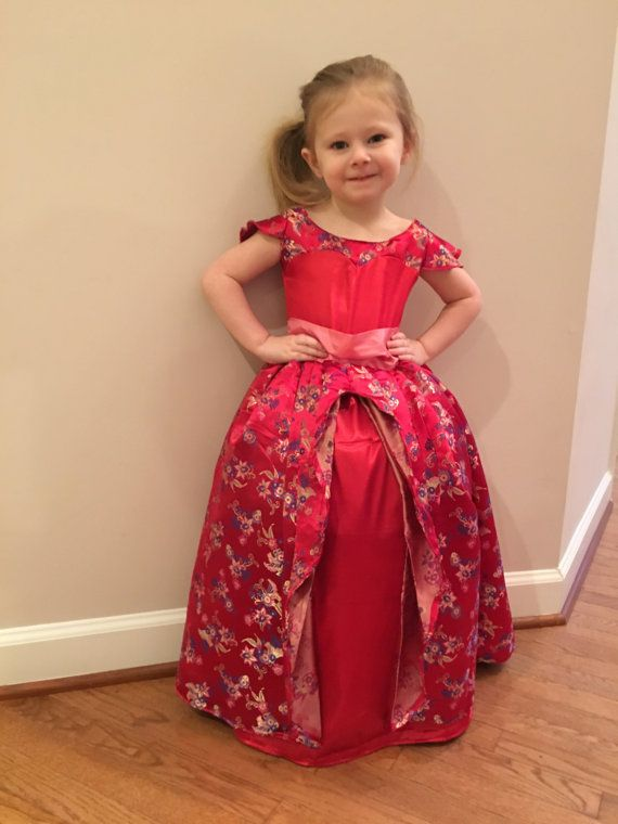 39fec5c5f58cc Elena of Avalor Floral Red Gown, Dress, Costume for Toddler, Kids ...