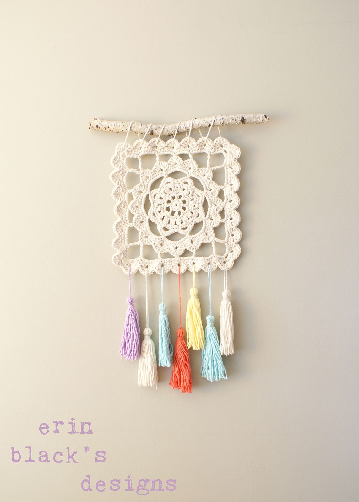 Dreaming of Granny Square Wall Hanging pattern by Erin Black ...