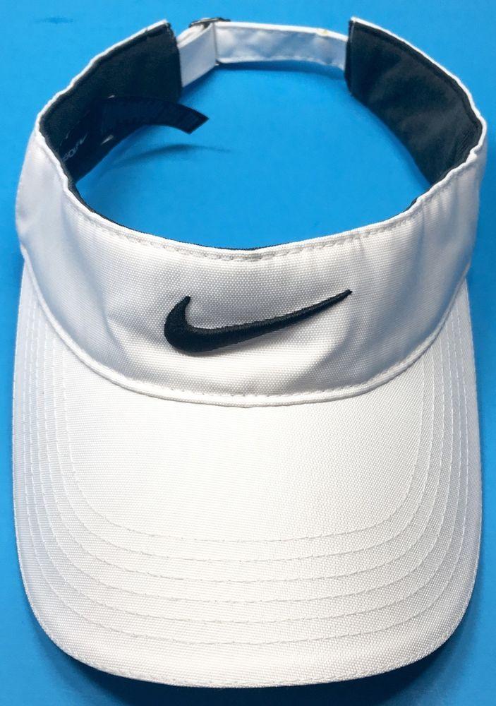 758dd88aae0 Nike Golf Swoosh VR Sun Visor White One Size Adjustable Back Unisex ...