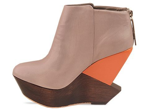 Grey and Orange wedges by Finsk