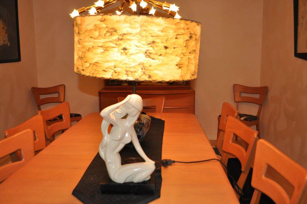 Vintage Mid Century Art Deco Retro Heifetz Lamp