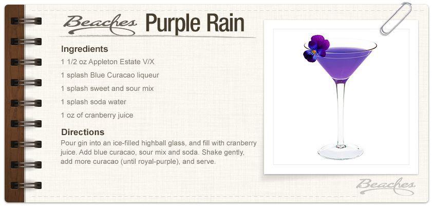 Sandals Purple Rain Purple Rain Sandals Resorts Purple Rain Drink