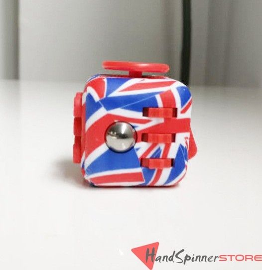 Superb UK Flag Magic Fidget Cube Dice Finger Toy EDC Sensory For Autism And ADHD  Kids/