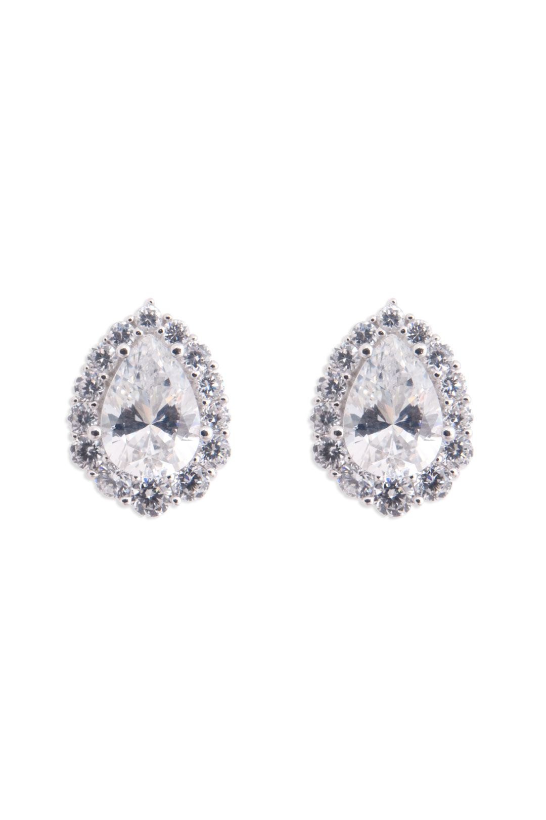 Crislu Teardrop Sparkle Earrings Simple And Sophisticated These Sparkling Studs Help You To Shine