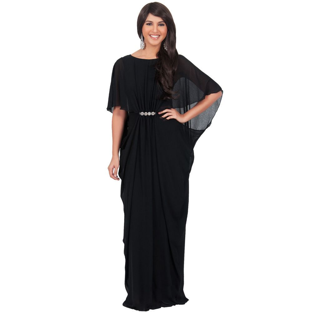 025d210bf594 Koh Koh Women's Half-Sleeve Chiffon Embellished Maxi Dress | I like ...