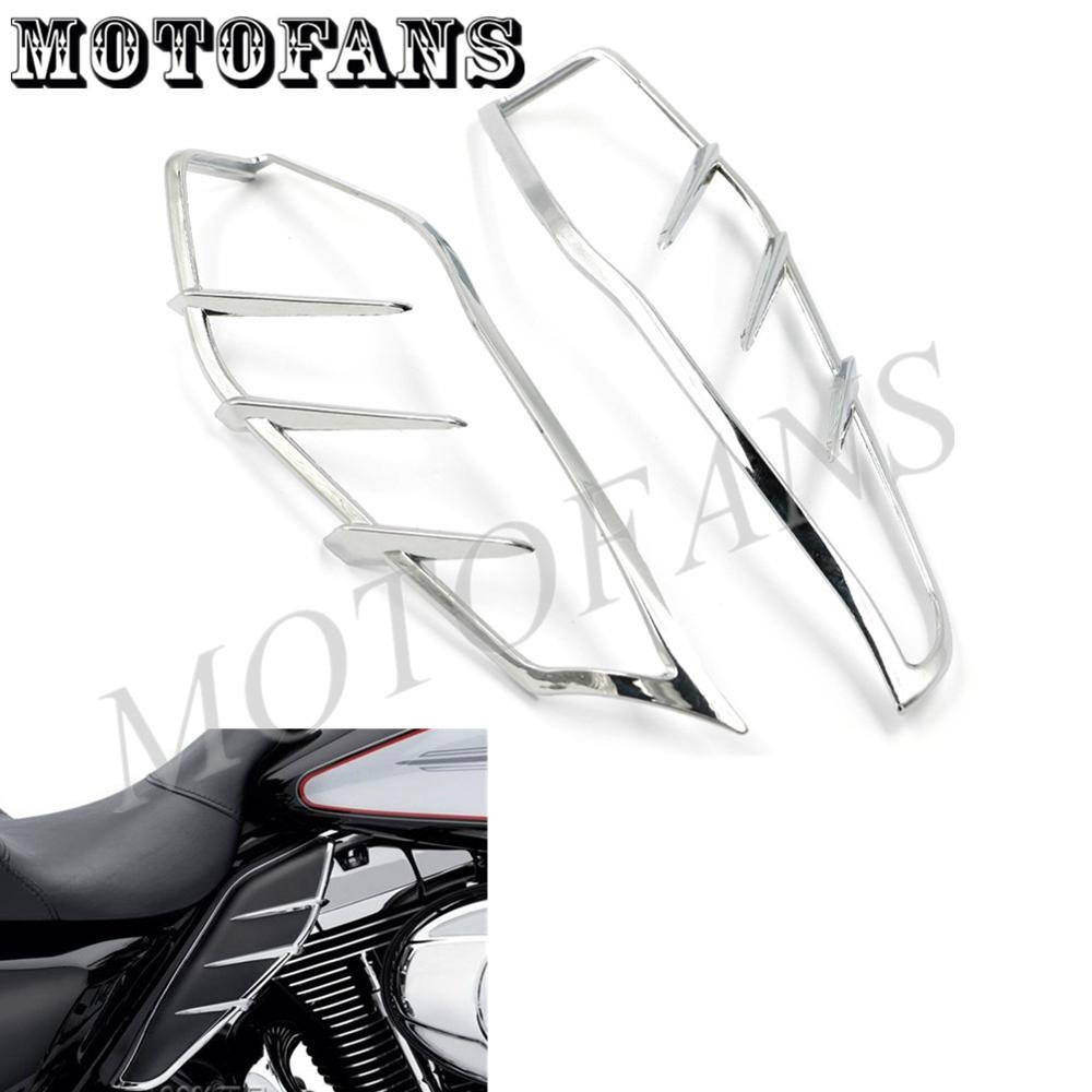 26.30$  Watch here - http://ali0c7.shopchina.info/go.php?t=32660791168 - CHROME FRAME MOULDING MOTORCYCLE ENGINE HEAT DEFLECTOR SHIELD FOR HARLEY ROAD STREET TRI ELECTRA GLIDE ULTRA LIMITED FLHTK 09-15 26.30$ #aliexpressideas
