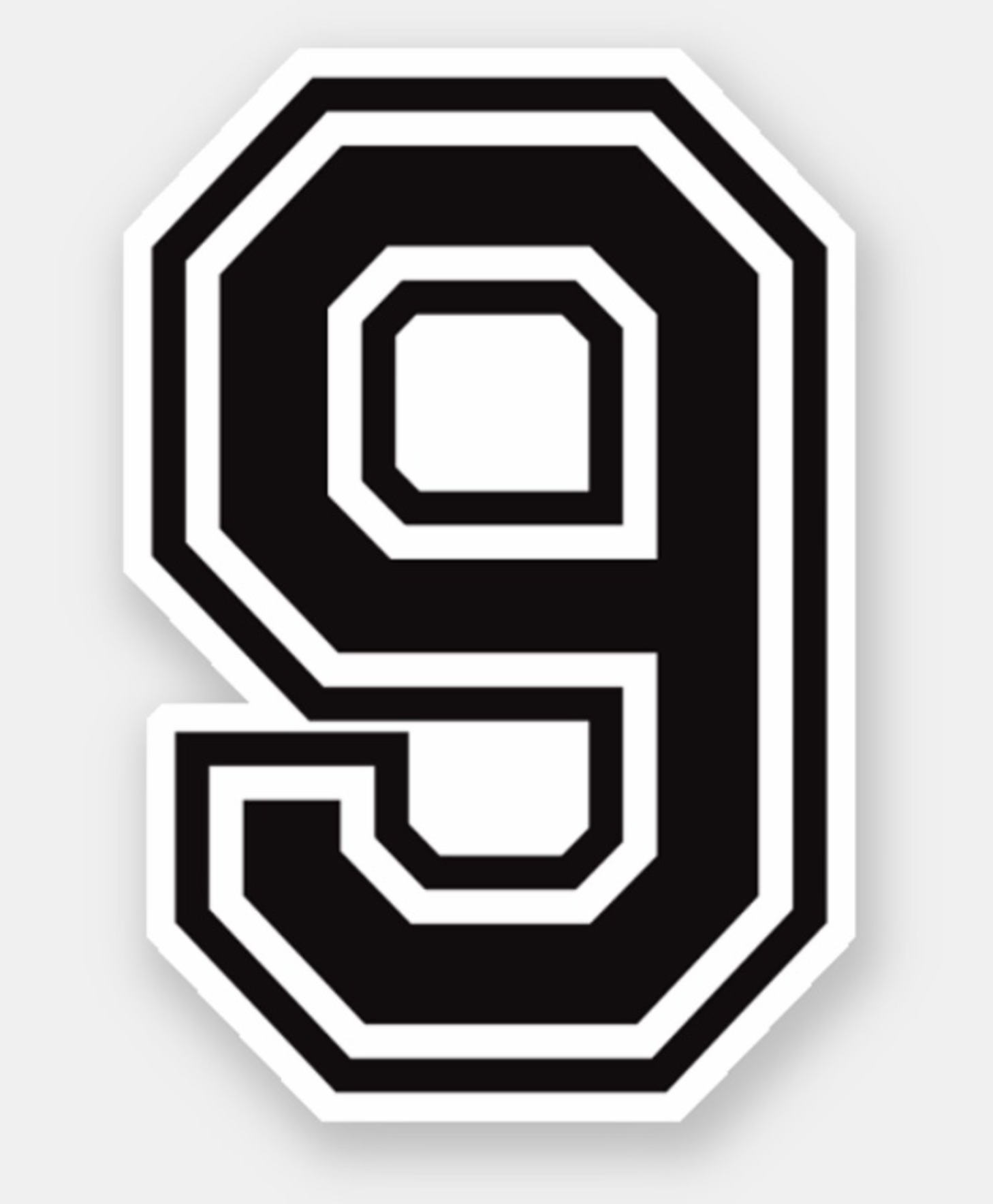 Number Nine 9 Sports College Font Sticker Zazzle Com Cool Lettering Graffiti Lettering Fonts Sports Fonts
