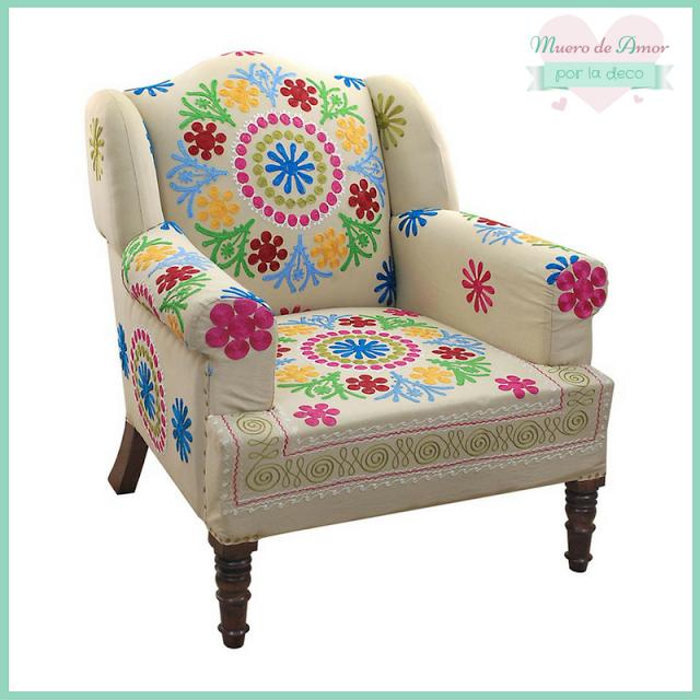 Bonito #sillón de #colores de #MaisonsDuMonde si quieres ver más... Entra en mí #blog de #decoración #MueroDeAmorPorLaDeco #ByAnaOval #DecoBlogger #DecoHome #DecoLove #CosasBonitas