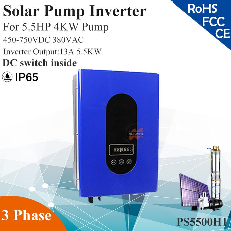5 5KW 13A 3phase 380VAC MPPT solar pump inverter with IP65 for 5 5HP