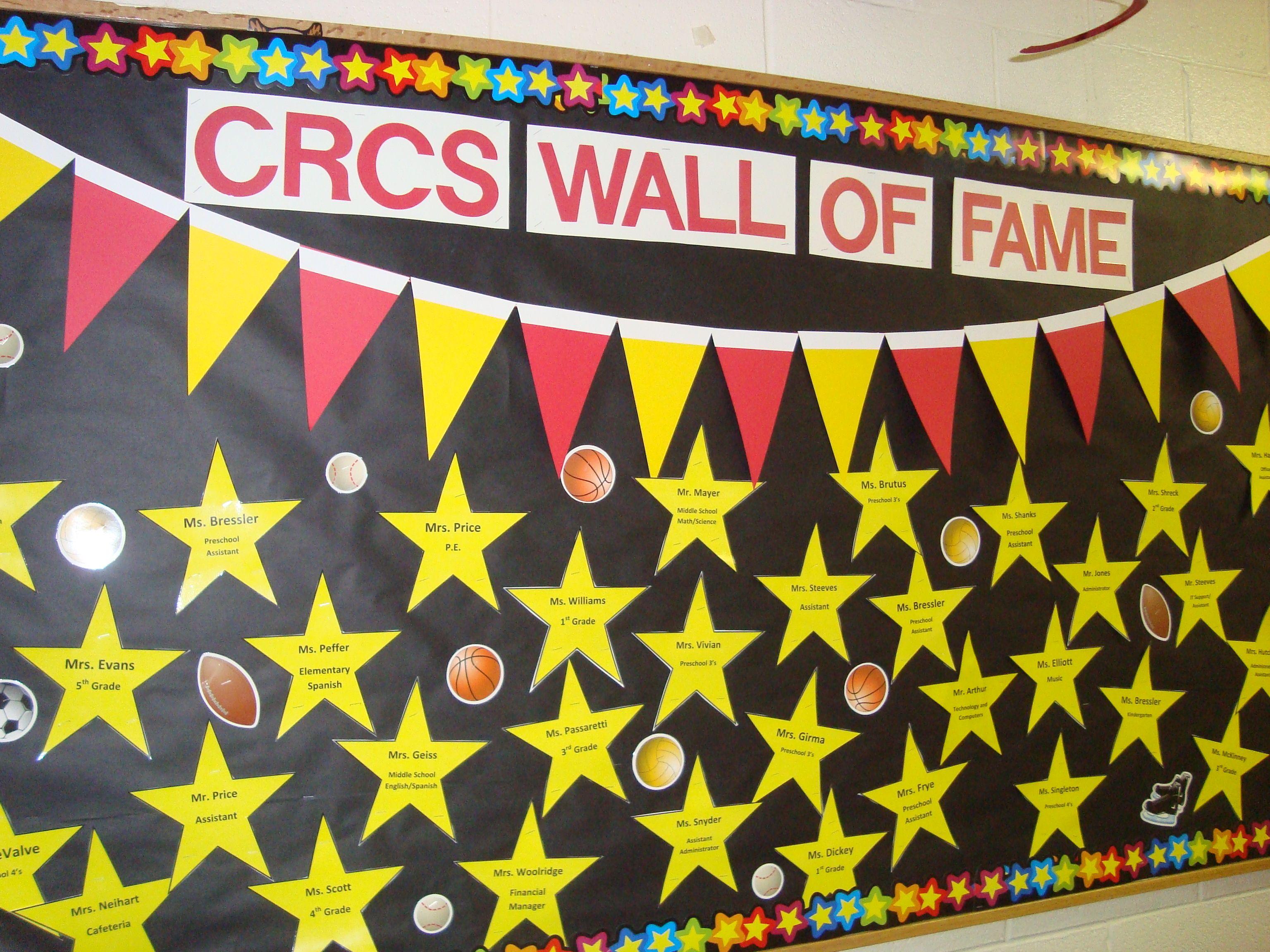 Wall of fame...Star/Sports   All Star Champions Teacher Appreciation ...