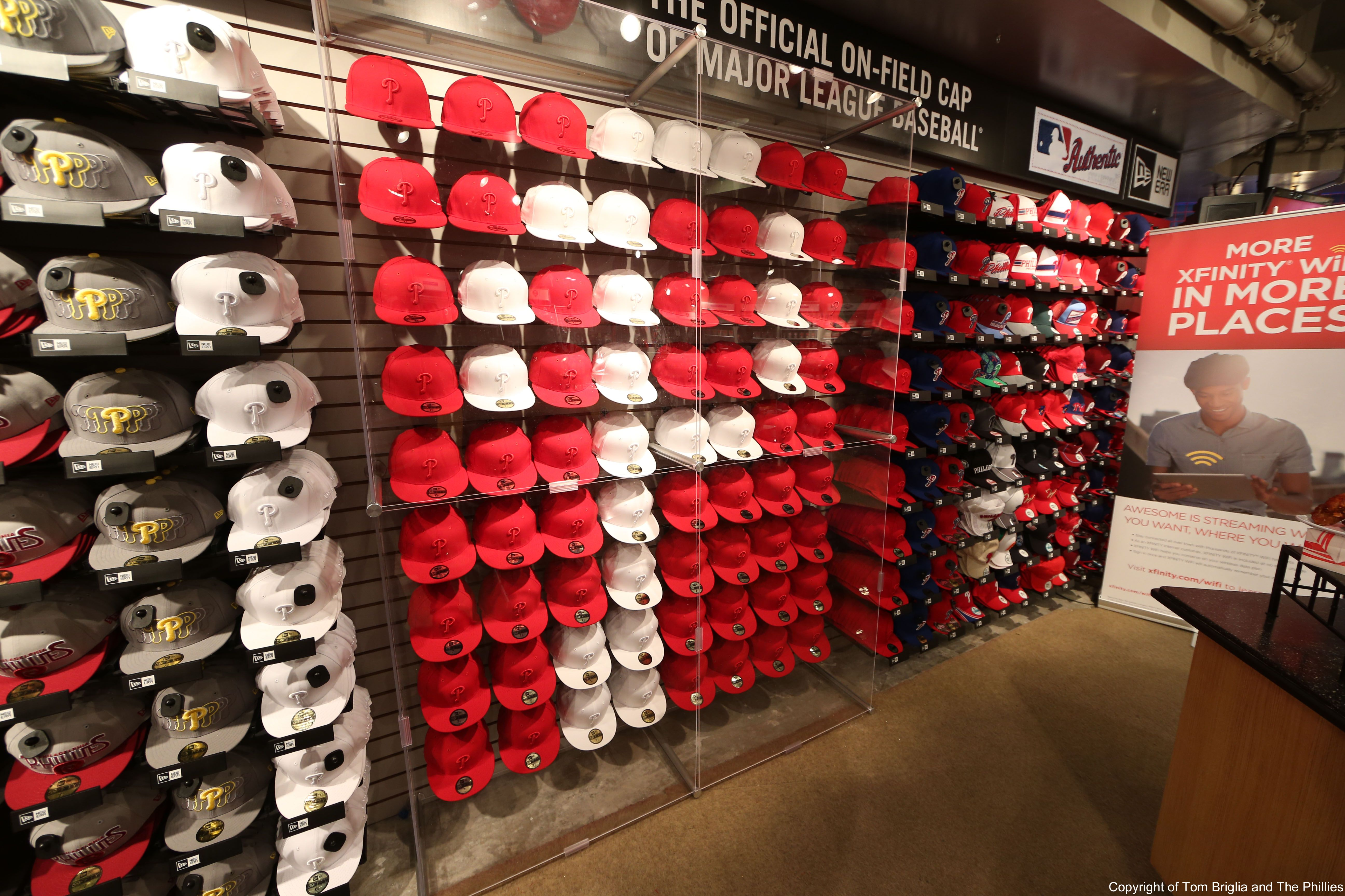 What S Hot This Season At Citizens Bank Park Home Of The Phillies Phillies Cap Wall New Era Hats