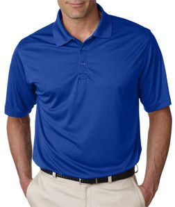 8425 UltraClubå¨ Men's Cool & Dry Sport Snag-Resistant Performance Interlock Polo Royal