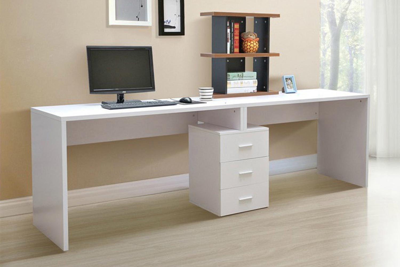 White Minimalist Modern Desktop Computer Desk Table Modern Computer Desk Minimalist Computer Desk Desk Design
