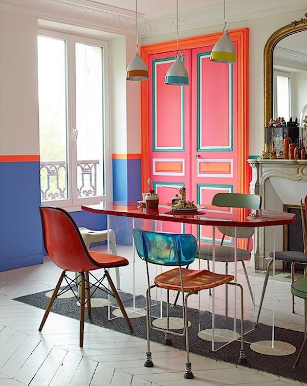 La Fabrique à Déco Oser la couleur  peindre les portes de la - couleur des portes interieur