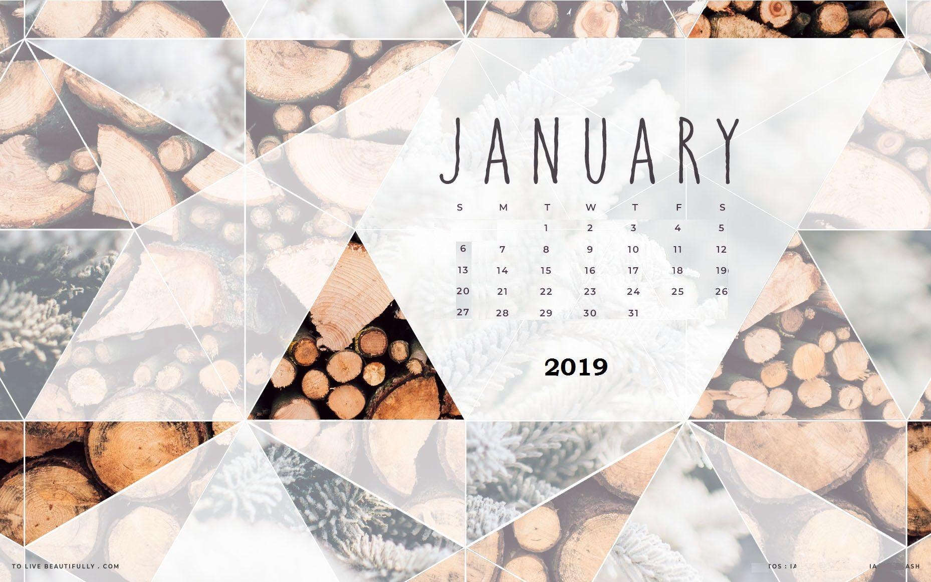 Jan 2019 HD Wallpaper with Calendar  desktop wallpaper in 2018  Pinterest  Calendar wallpaper