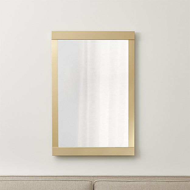 Colby Soft Gold Wall Mirror 24 Wx1 25 Dx36 H Crate And Barrel Gold Mirror Wall Mirror Wall Mirror Wall Living Room