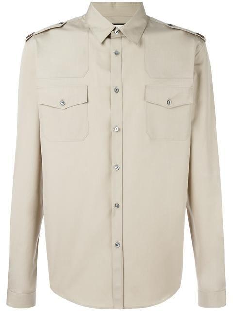 69e49a225 GUCCI poplin military Duke shirt. #gucci #cloth #shirt   Gucci Men ...