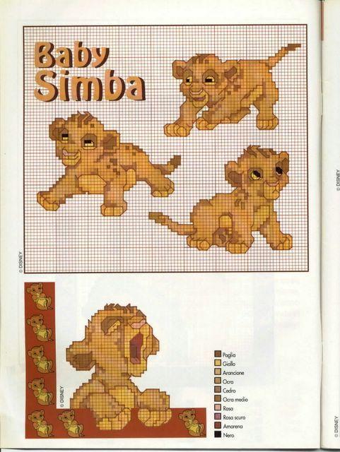 Baby Simba | Disney Cross Stitch | Pinterest | Bügelperlen ...