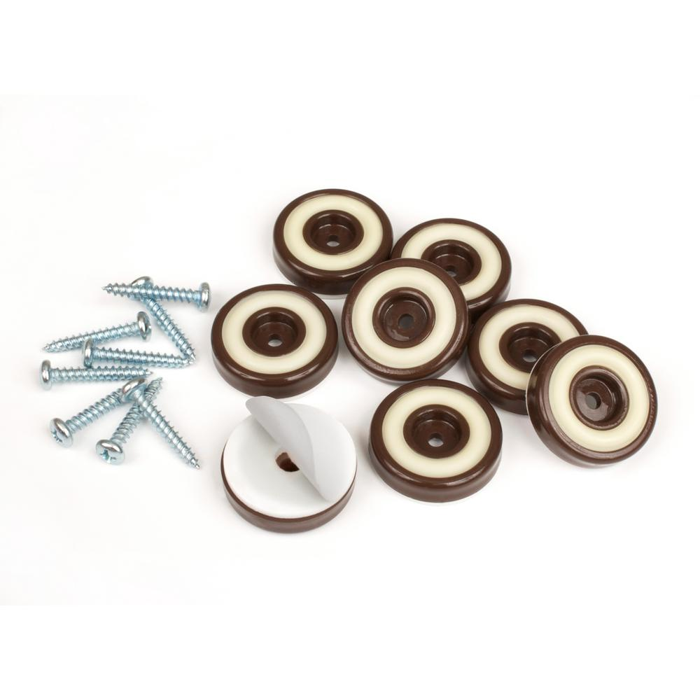 Slipstick 1 1 4 In Round Chocolate Brown Furniture Feet Floor Protectors With Rubber Grip Set Of 8 Cb325 The Home Depot Furniture Floor Protectors Floor Protectors Furniture Feet