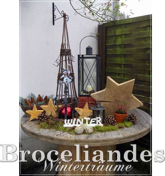 Feder Deko Weihnachten: Broceliandes Gartenträume