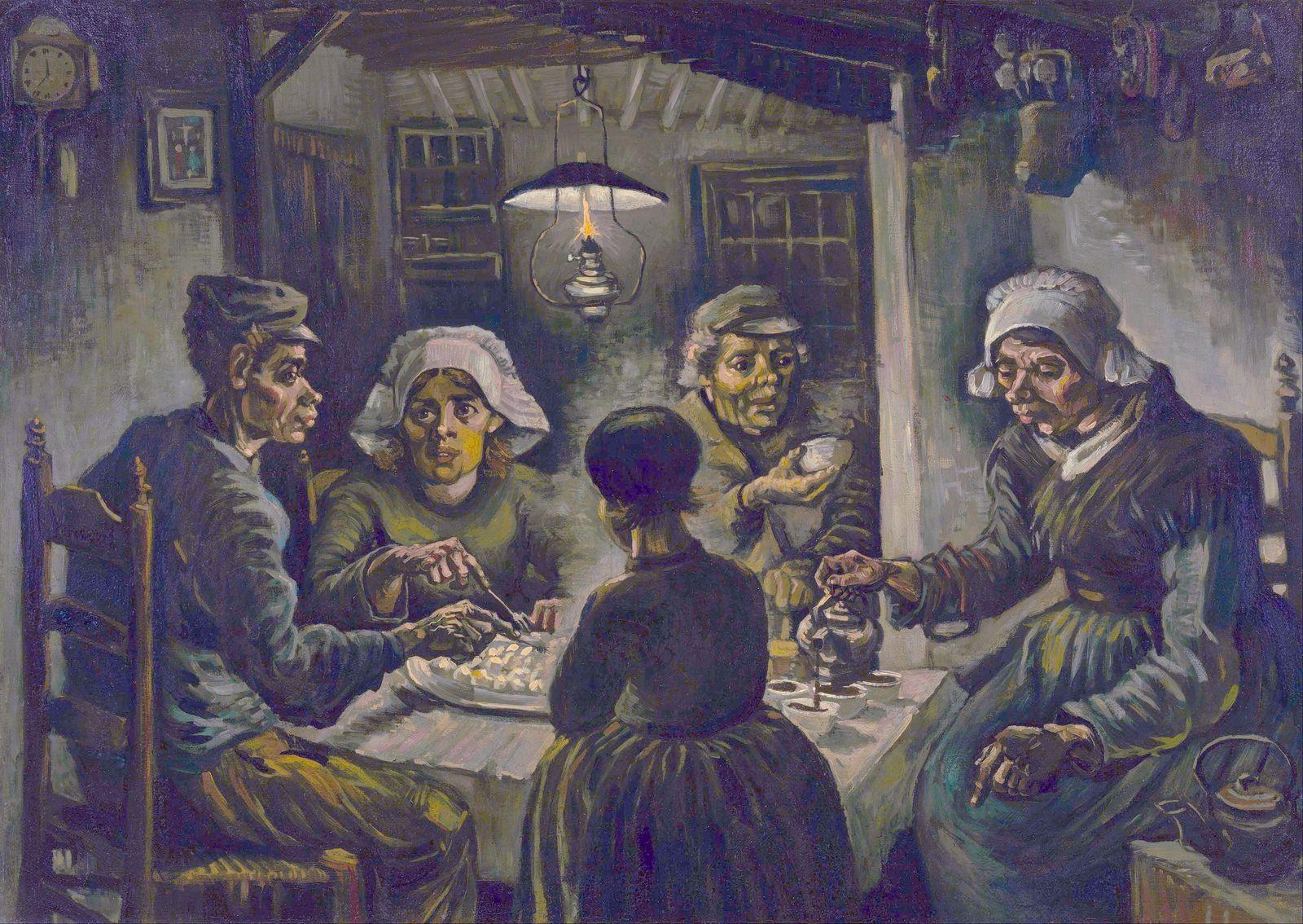 Van Gogh The Potato Eaters 1885 Van Gogh Pinturas Os