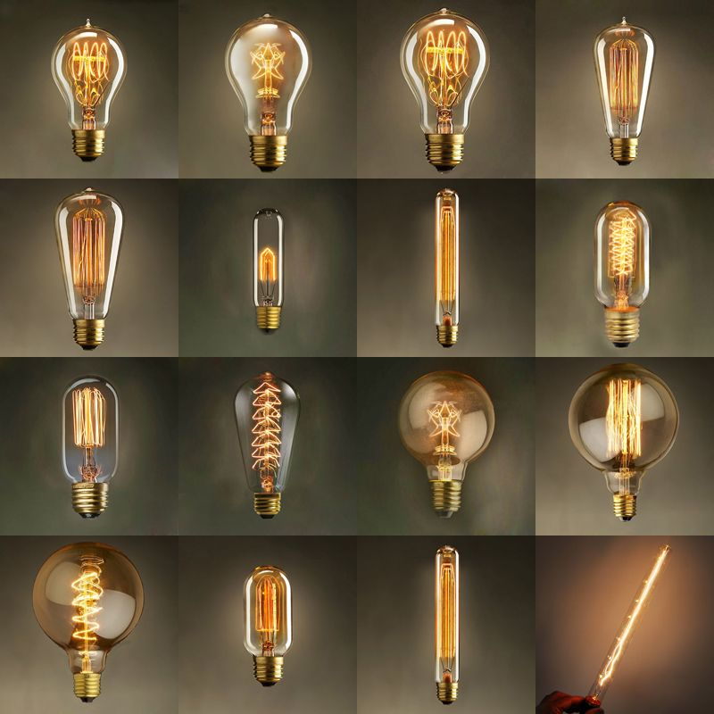 Vintage Edison Bulb Light Lamp Ac 110v 220v E27 Vintage Edison Bulbs Love These Bulbs Decorative Light Bulbs Vintage Bulbs Lamp Vintage Light Bulbs