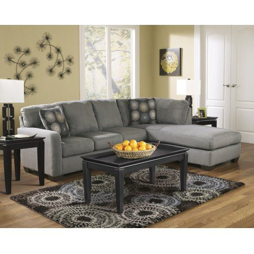 Zella Charcoal 2 Piece Sectional Sectional Living Room