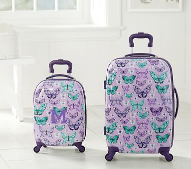 25233a7905 Mackenzie Lavender Pretty Butterfly Hard Sided Spinner Luggage  pbkids