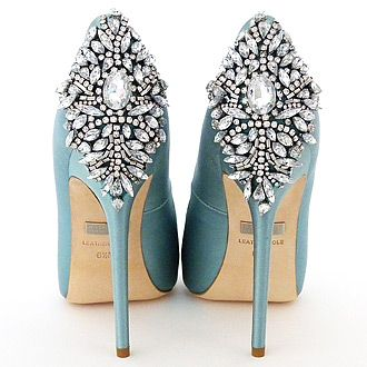 Badgley Mischka Wedding Shoes. A new color in the most coveted heels for brides. Kiara now available in Blue Radiance.…