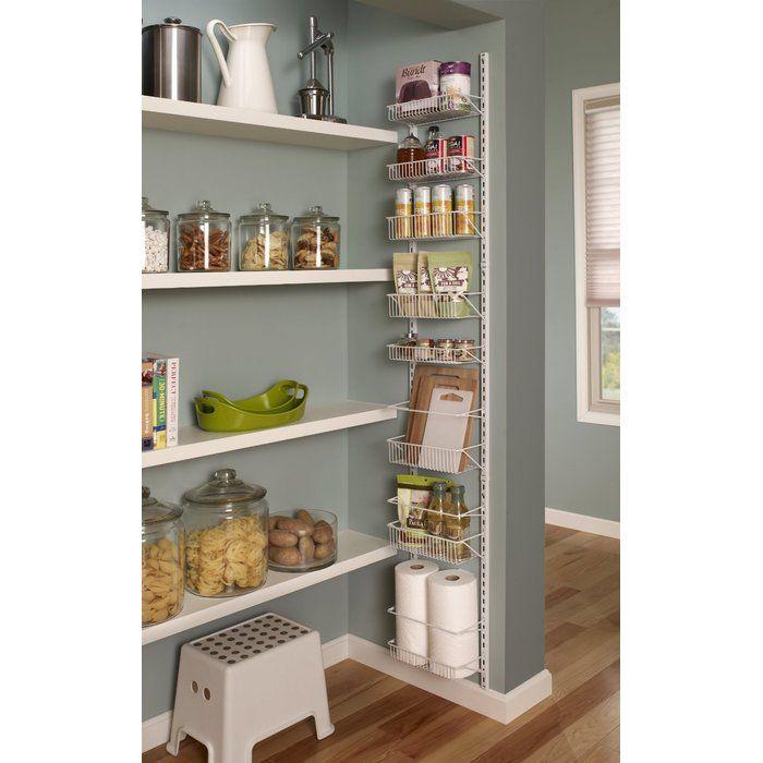 8 Tier Adjustable Cabinet Door Organizer #pantryshelving
