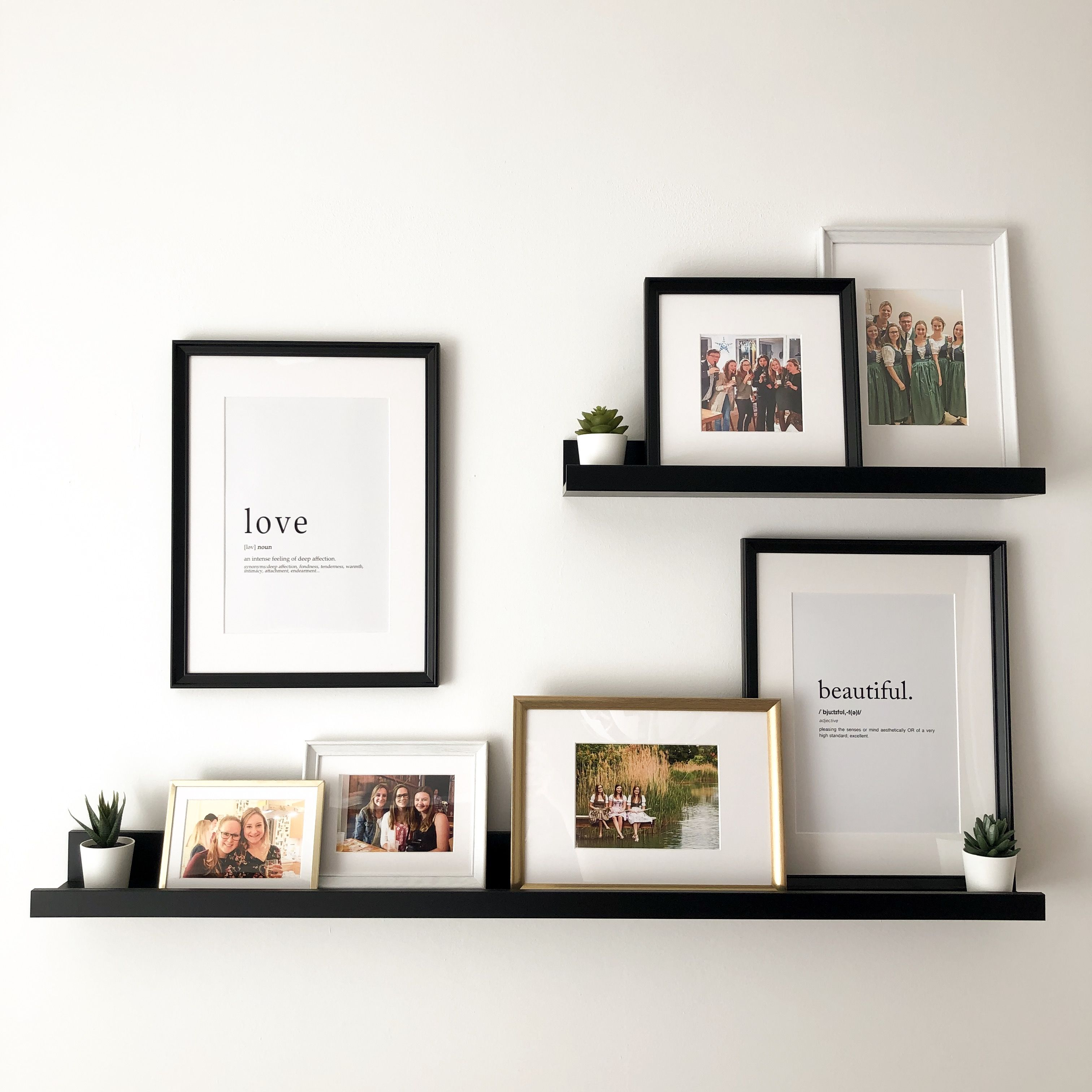 Ikea Picture Ledge Homedecor Homestyle Pics Frames Framedwallart Blackandwhiteandgold Simpledecor Home Decor Wall Decor Living Room Ikea Picture Ledge