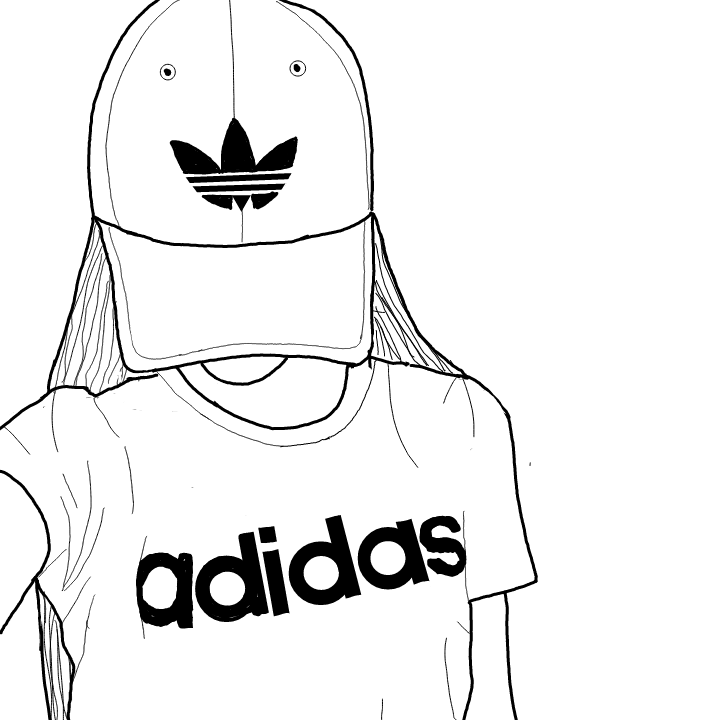 Tumblr Girl Adidas Drawing Tumblr Drawings In 2019 Tumblr Girl