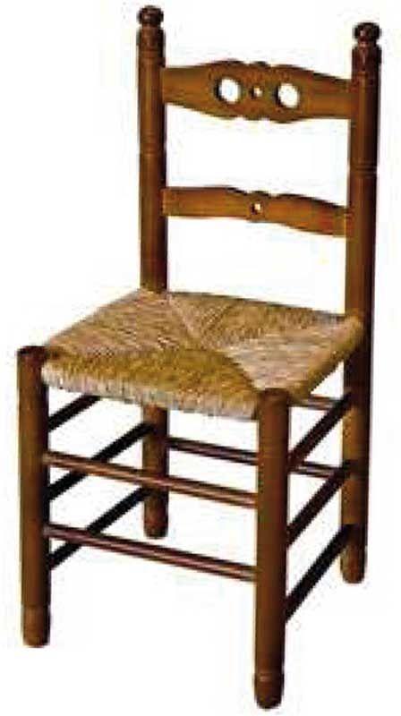 Silla Codal madera de pino asiento anea enea | Sillas Anea
