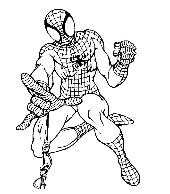 top 20 spiderman coloring pages printable - Pictures Of Spiders To Colour In